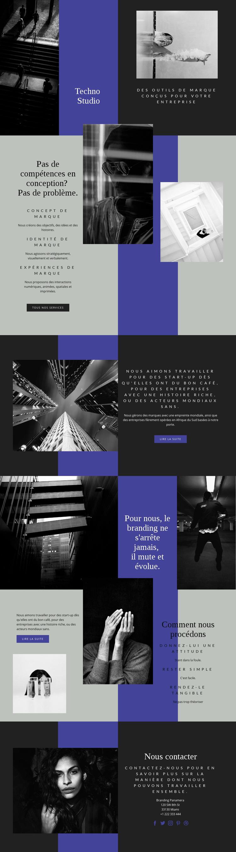 Compétences techno en entreprise Modèle de site Web