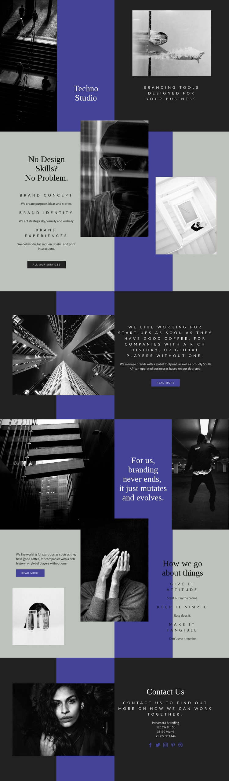 Techno skills in business HTML Template