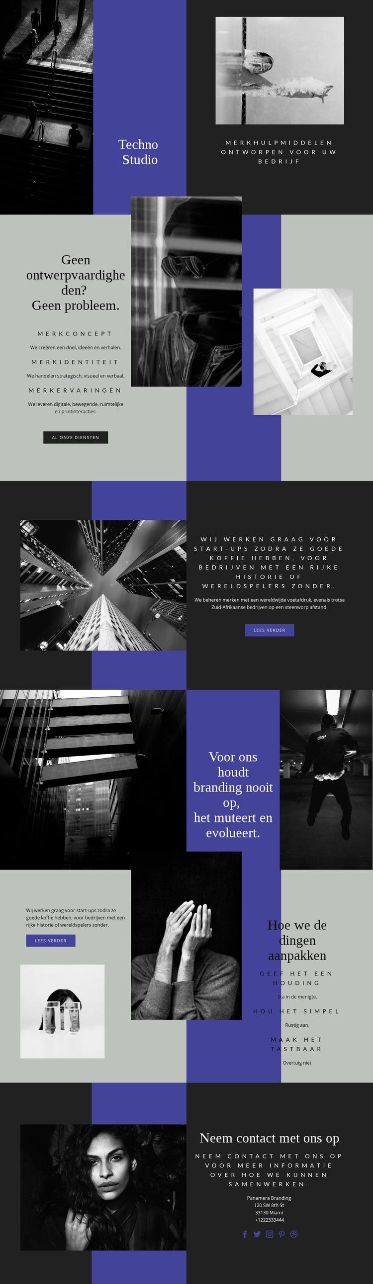 Technologische vaardigheden in het bedrijfsleven Website sjabloon