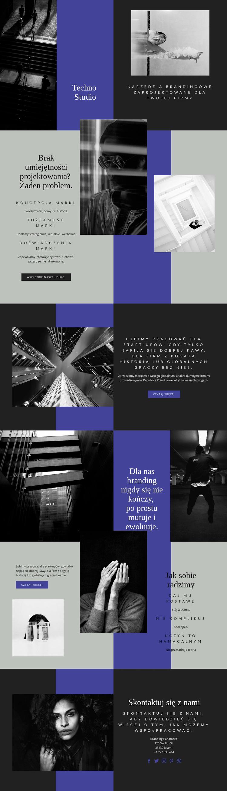 Umiejętności techno w biznesie Szablon witryny sieci Web