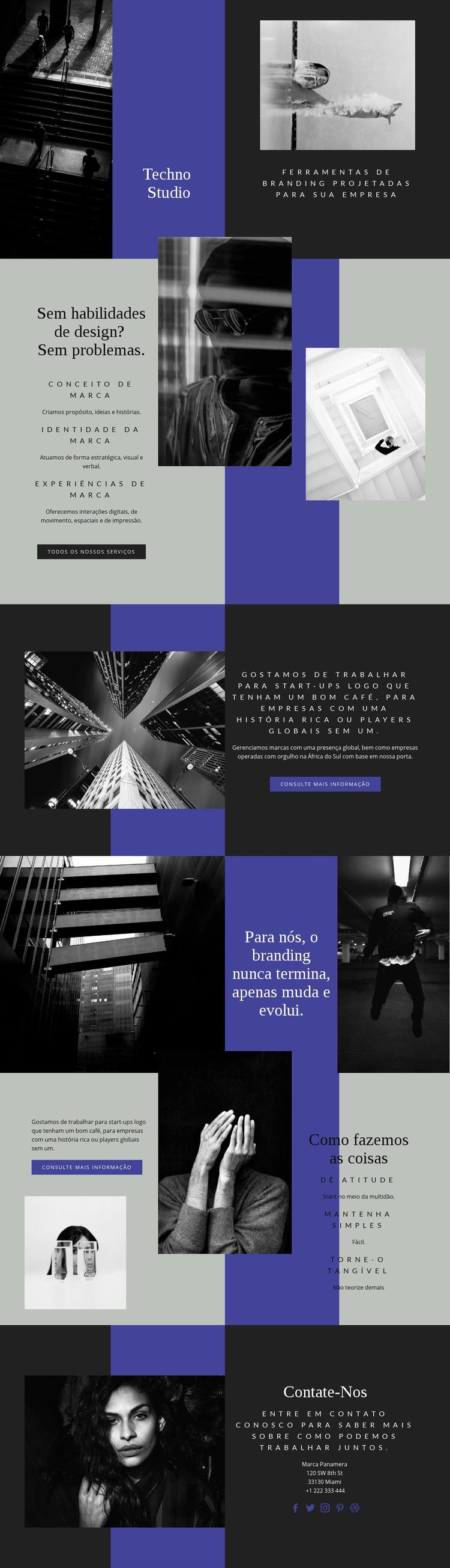 Habilidades tecnológicas nos negócios Modelo de site
