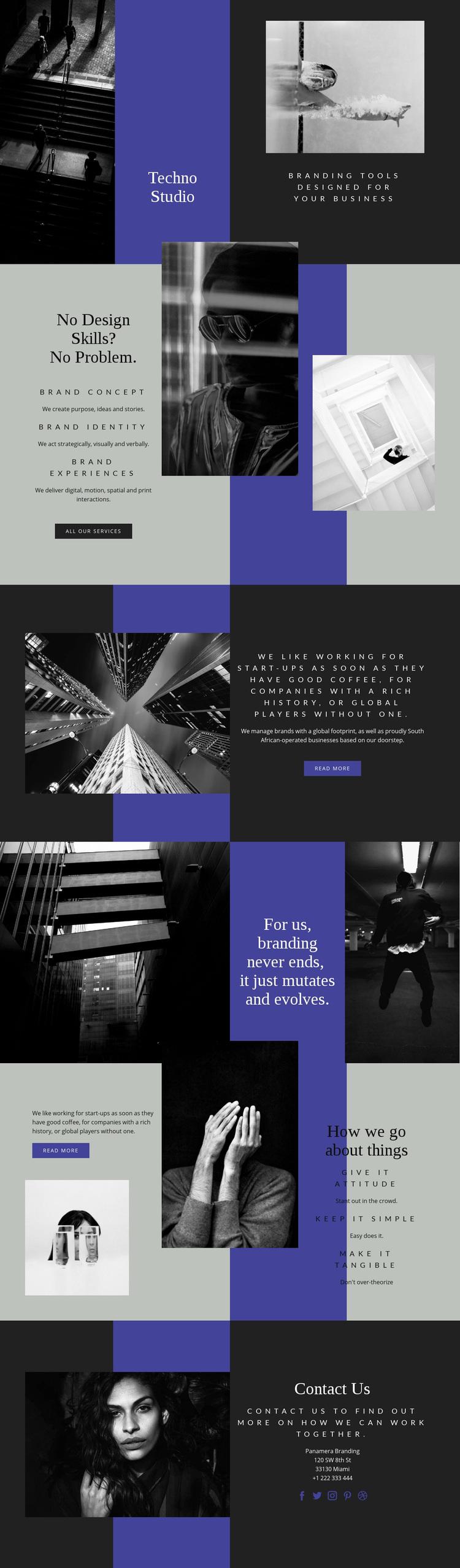 Techno skills in business Web Page Designer