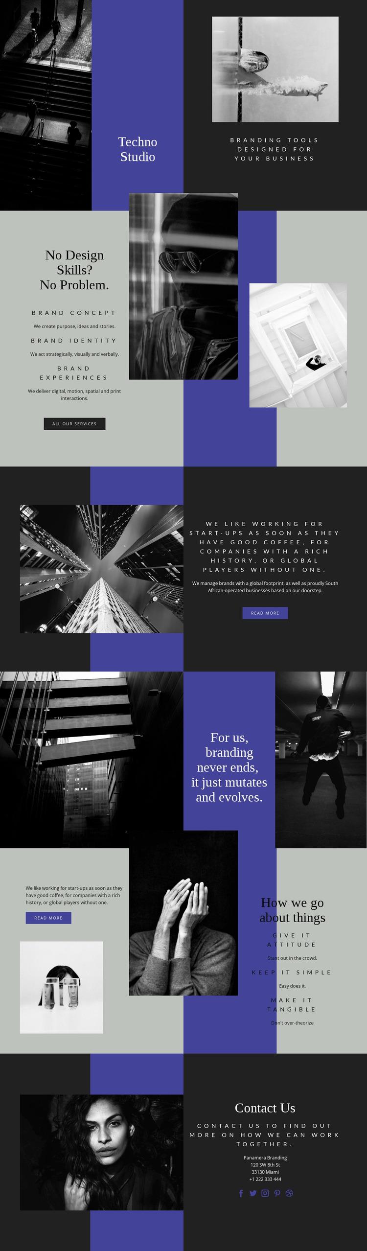 Techno skills in business Website Mockup