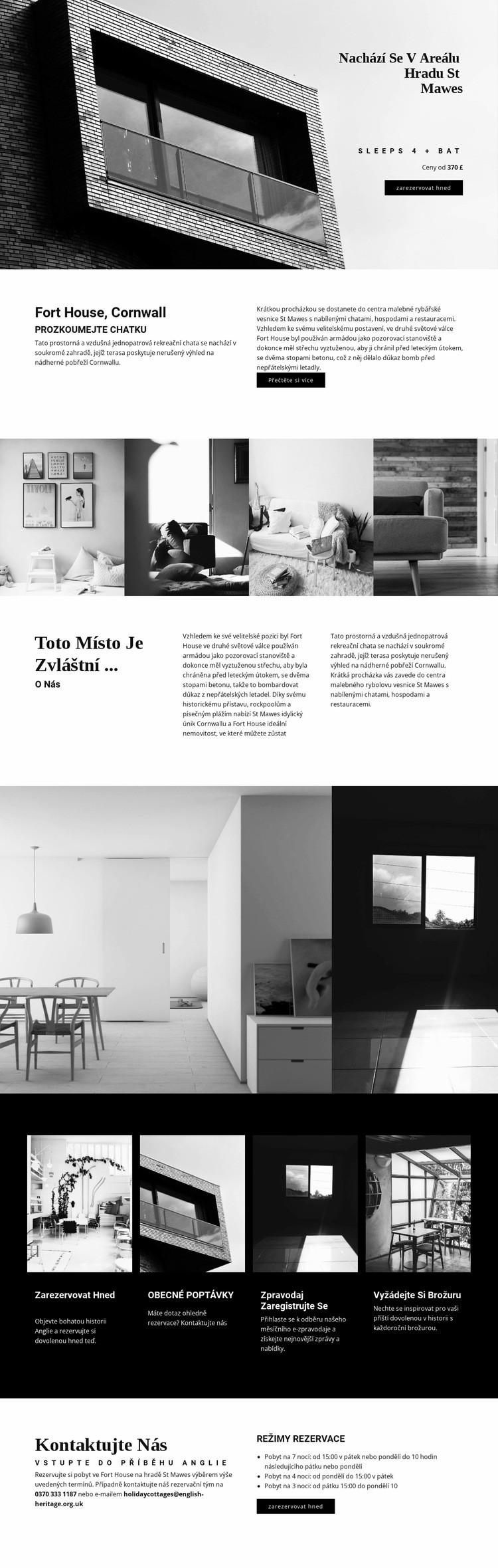 Globální moderní architektura Šablona webové stránky