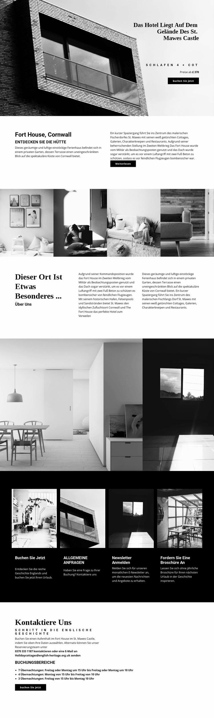 Globale moderne Architektur Website-Vorlage