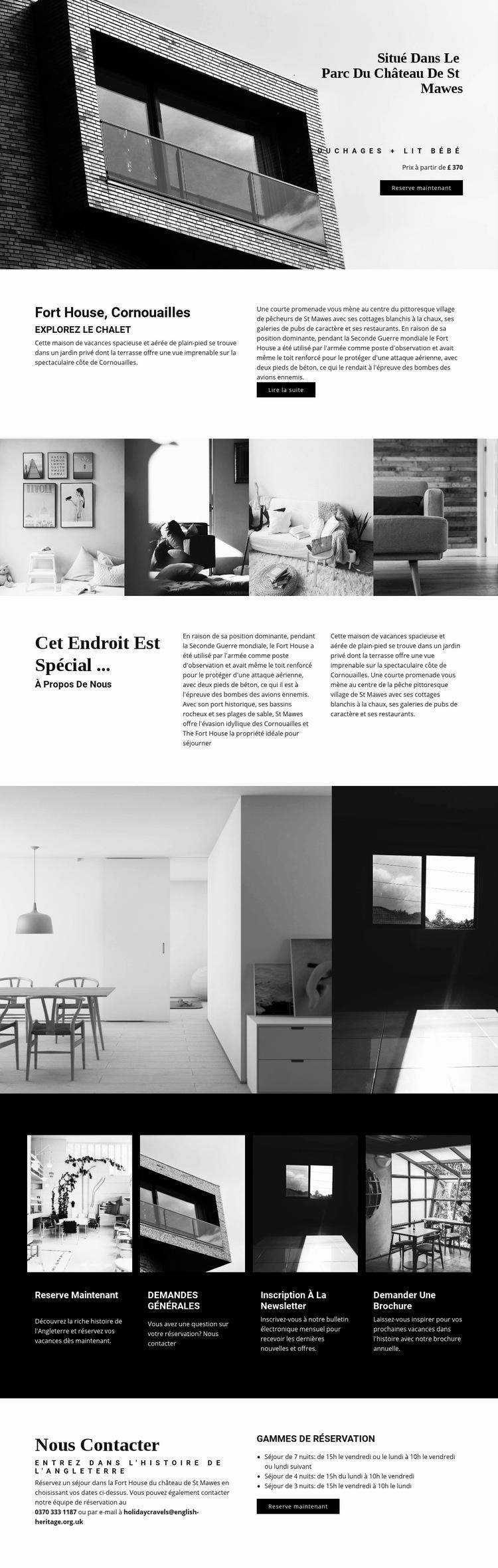 Architecture moderne globale Modèle de site Web