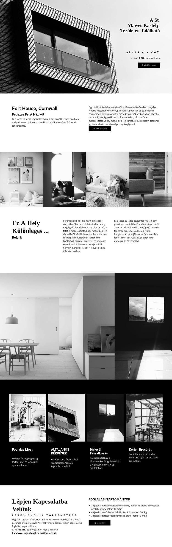 Globális modern építészet Weboldal sablon