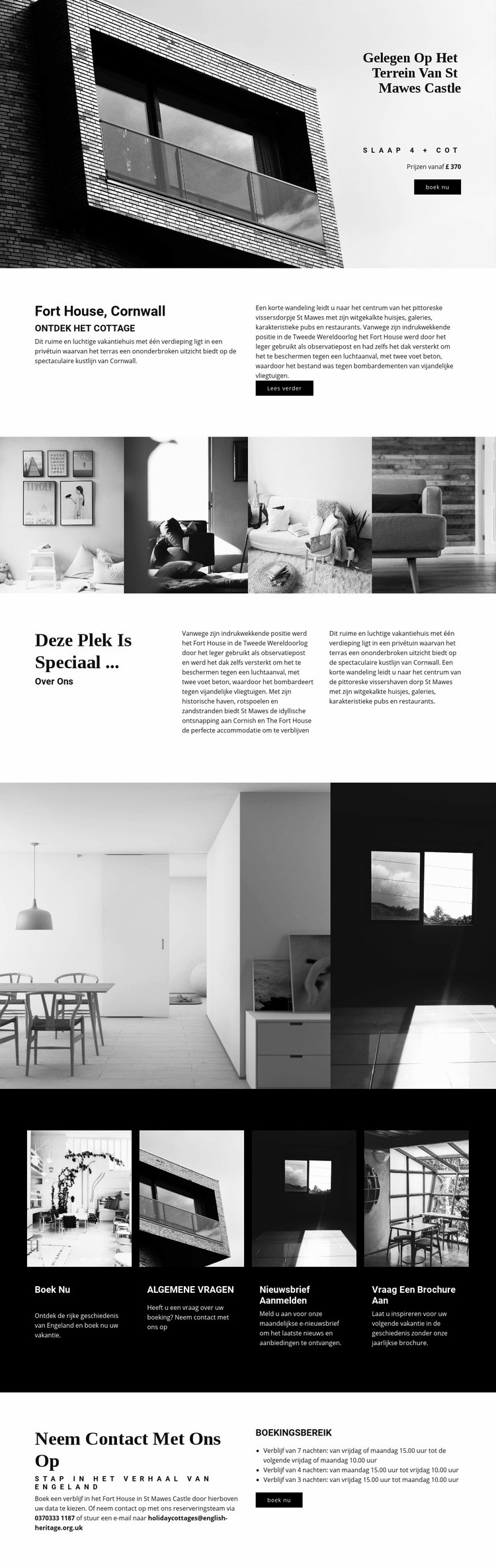 Globale moderne architectuur Website sjabloon
