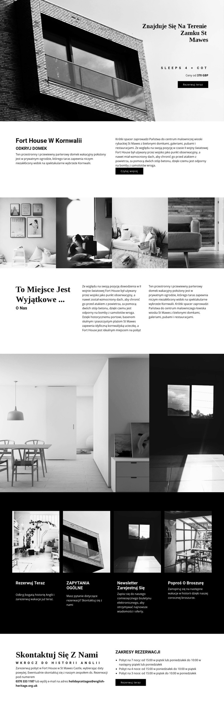 Globalna nowoczesna architektura Szablon witryny sieci Web