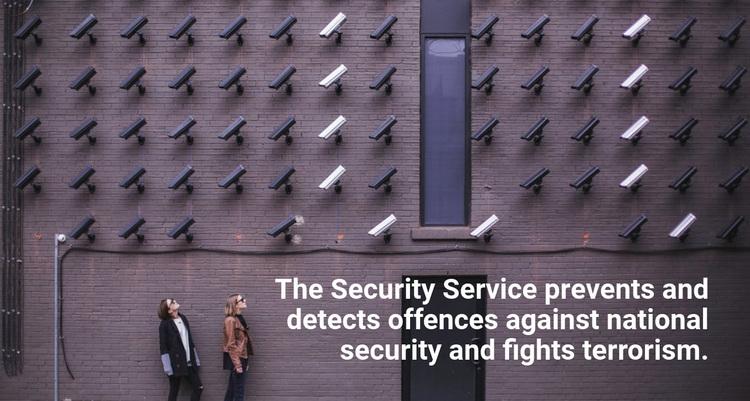Security services Website Design