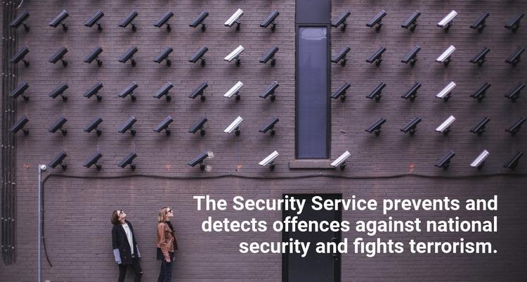Security services Website Mockup