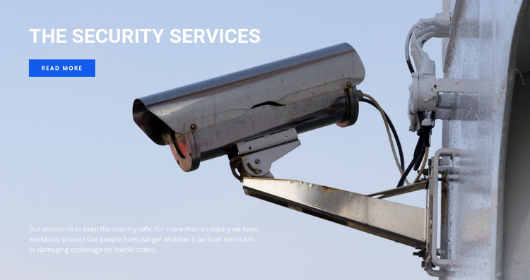 High quality video surveillance Website Mockup