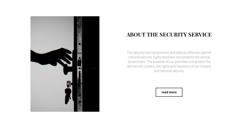 Security of houses and apartments WordPress Theme