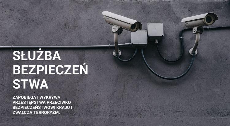 Bezpieczeństwo CCTV Szablon witryny sieci Web