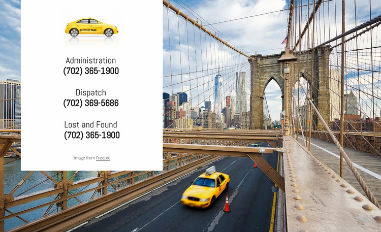 Cheap and reliable taxi Website Template