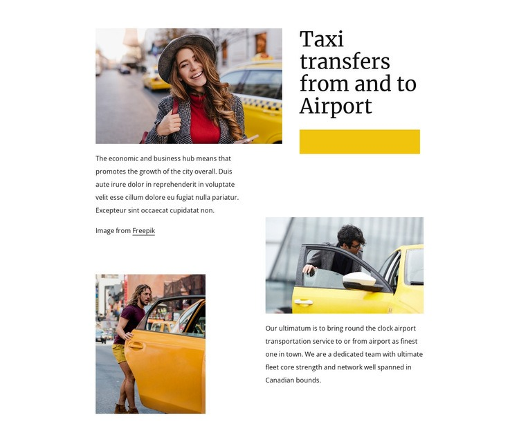 Taxi transfers from airport Html Code Example