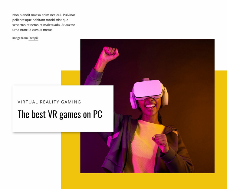 Best VR games on PC Website Template