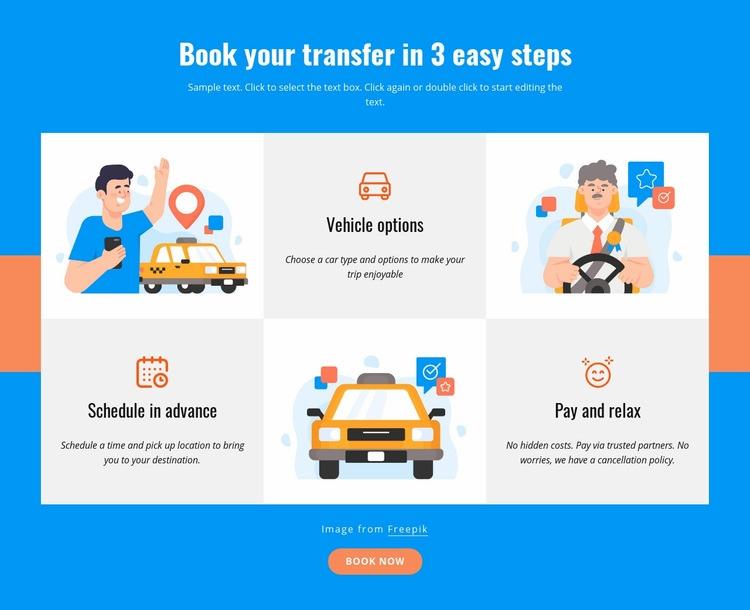 Book your transfer in 3 steps Wysiwyg Editor Html