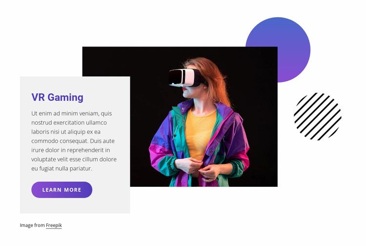 VR gaming Website Design