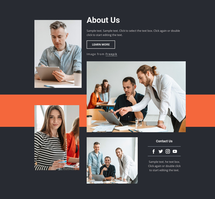 MBA research team Html Website Builder