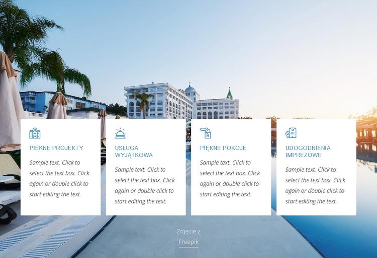 Korzyści z luksusowego hotelu Szablon witryny sieci Web