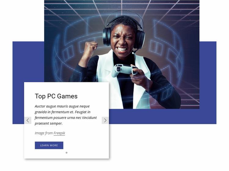 Top PC games Website Mockup