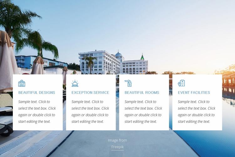 Luxury hotel benefits Website Template