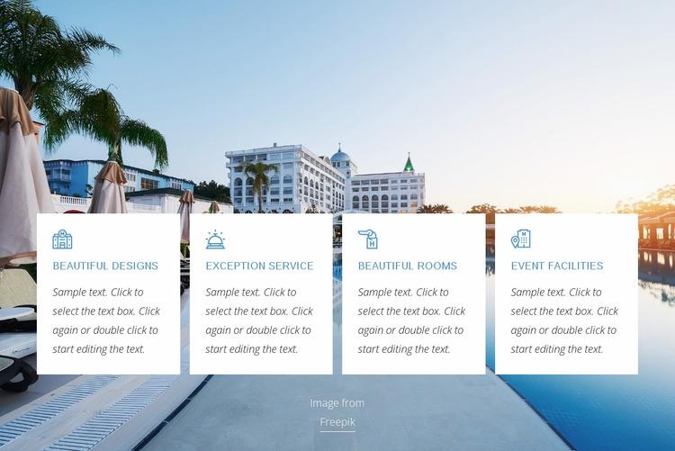 Luxury hotel benefits WordPress Website Builder