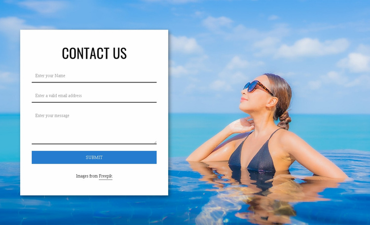 We welcome any questions Website Template