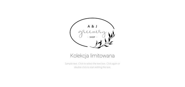 Nagłówek i tekst logotypu Szablon witryny sieci Web