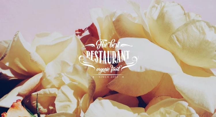 European cuisine restaurant Website Mockup