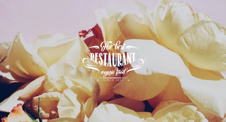 European cuisine restaurant Website Template