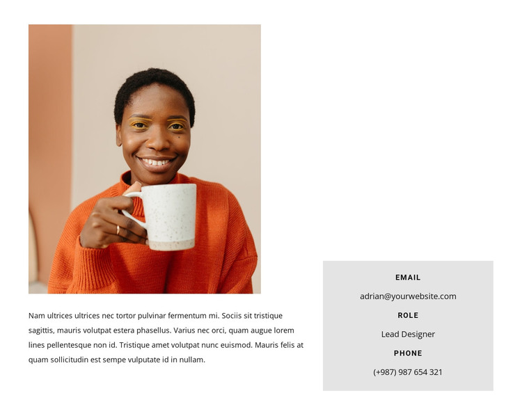 Designer business card HTML Template