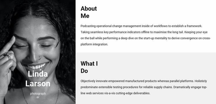 Meet Linda Website Template