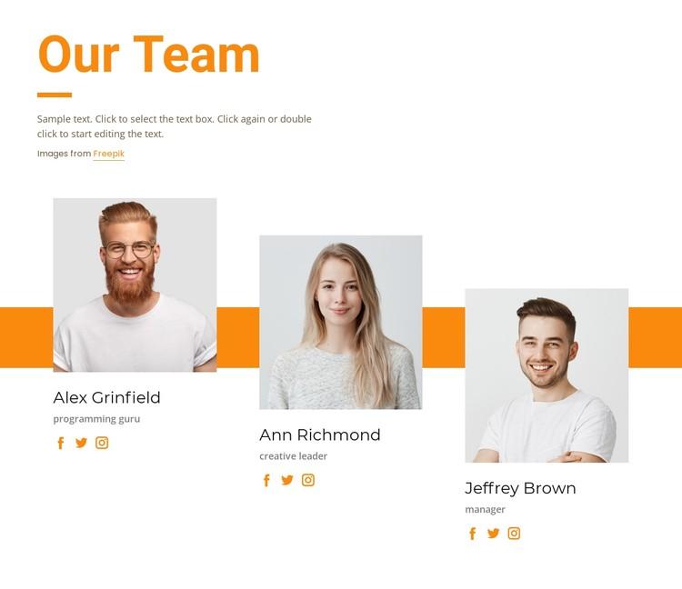 Meet our creative team CSS Template