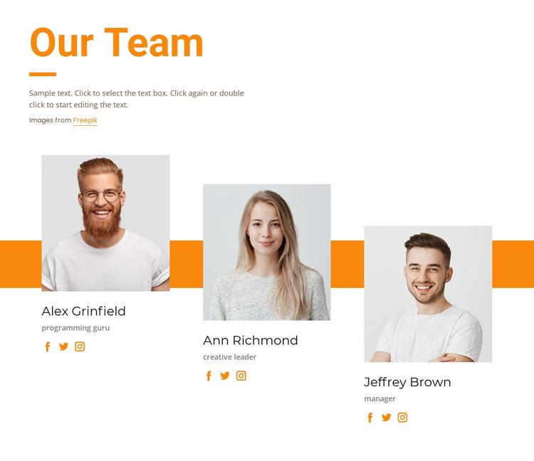 Meet our creative team HTML Template