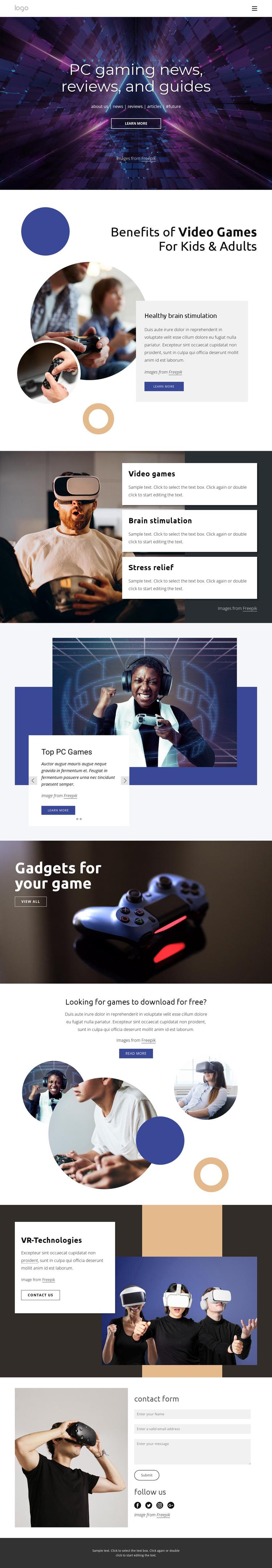 PC gaming news WordPress Theme