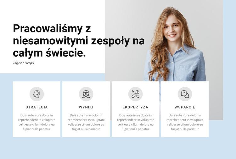 Profesjonalna firma usługowa Szablon witryny sieci Web