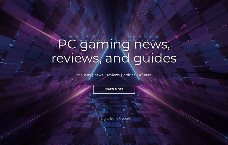 PC gaming news and reviews HTML Template