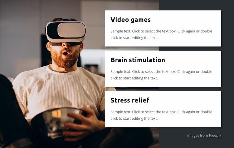 Video games Web Page Design