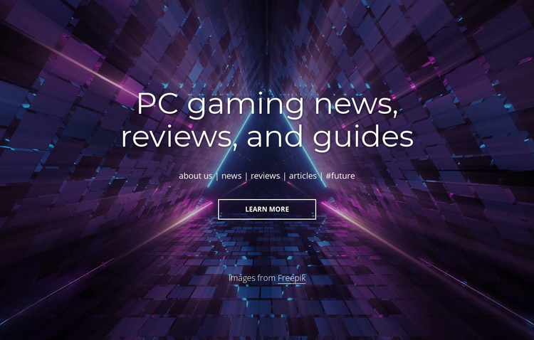 PC gaming news and reviews Website Template