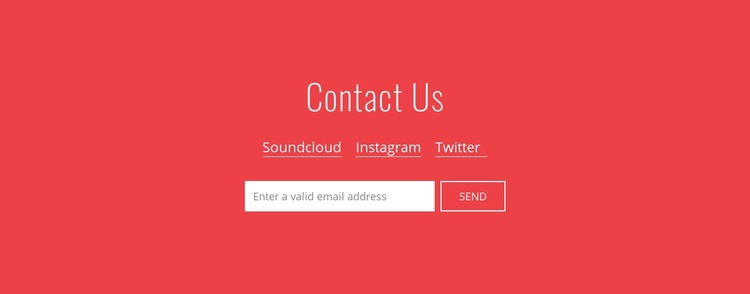 Contact us with email Html Code Example