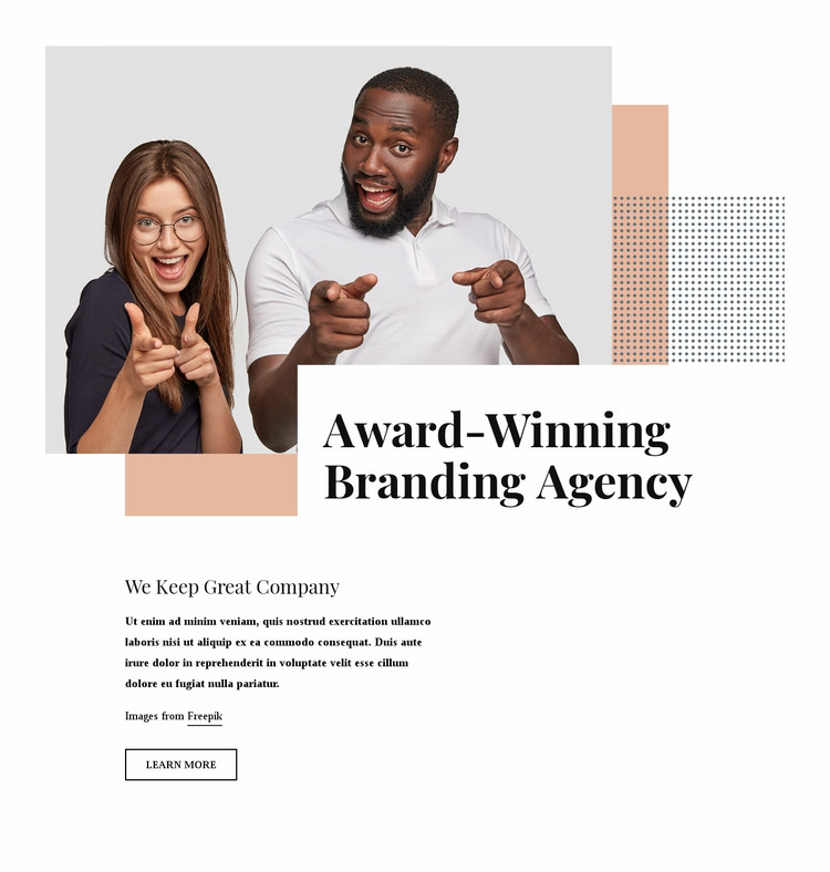 Award winning branding agency Website Mockup
