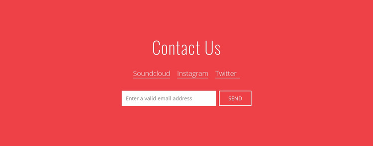 Contact us with email Website Template