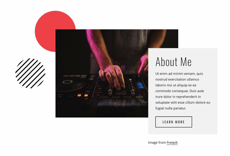 About DJ Night Html Code Example