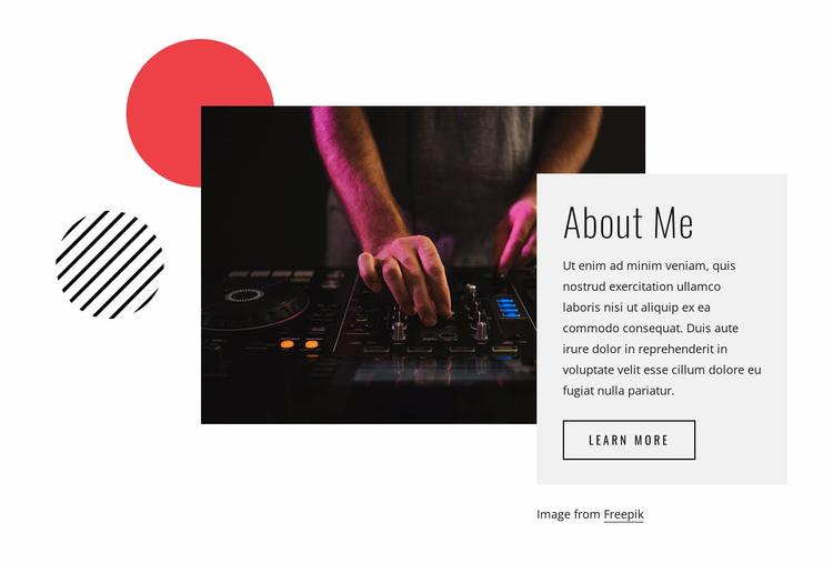About DJ Night Website Template