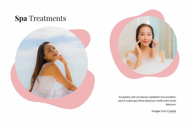 Luxury spa treatments Website Template