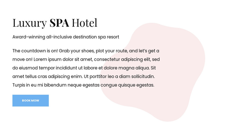 Boutique hotel and spa HTML Template