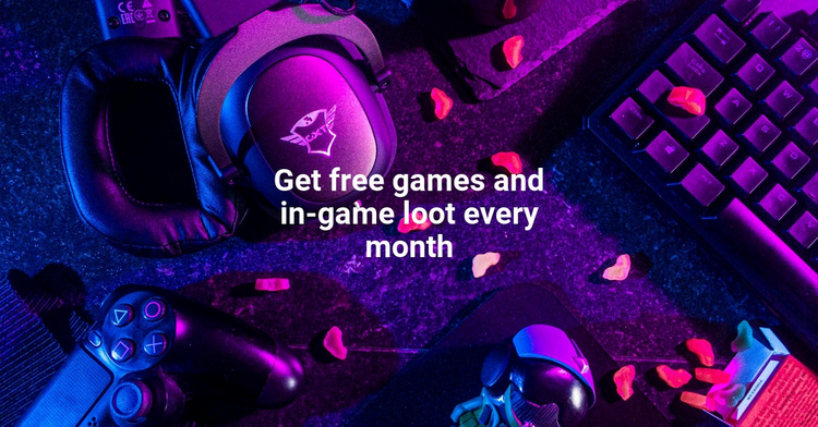 Free games Website Template