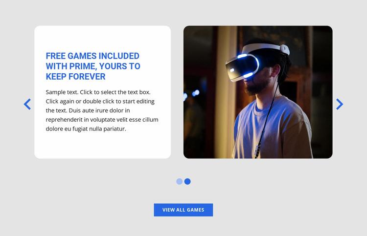 Testing new games Website Design